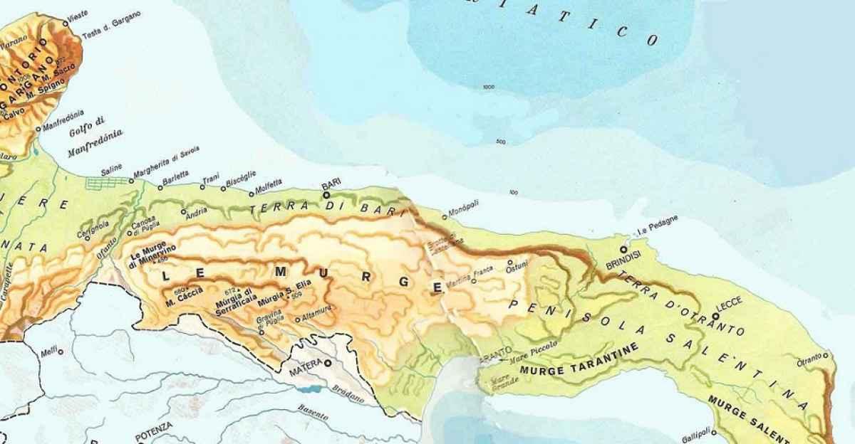 Brindisi Cartina Geografica.I Discussi Confini Del Salento Ne Fanno Parte Anche Brindisi E Taranto Barinedita Testata Giornalistica Online