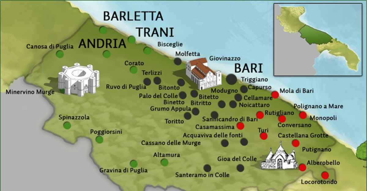 Monopoli Puglia Cartina.Il Barese Si Parla Da Margherita A Monopoli Con L Eccezione Corato Barinedita Testata Giornalistica Online