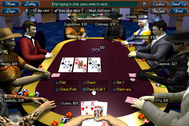 Poker with money or chips