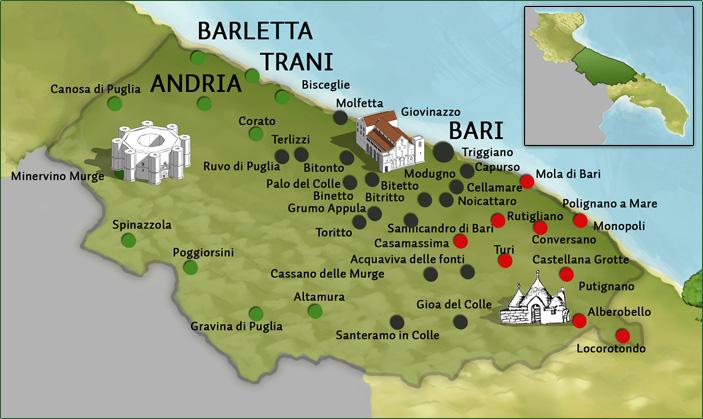 Cartina Puglia Noicattaro.Il Barese Si Parla Da Margherita A Monopoli Con L Eccezione Corato Barinedita Testata Giornalistica Online
